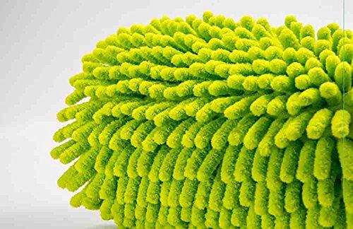 BMDHA Teleskopisch Autowaschbürste Langen Griff Baumwolle Multifunktion Weicher Pinsel Grün, Wird Keine Autolacke Verletzen