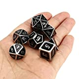 DyNamic 7Pcs Zinc Alloy Multisided Dices Set Enamel Embossed Heavy Metal Polyhedral Dice With Bag - #7