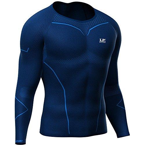 LP Support Air-Series ARM-2401-Z Compression Long Sleeve Top - langärmliges Herren-Funktionsshirt - Kompressions-Shirt - Funktions-Unterwäsche - Thermo-Shirt für Männer, Größe:L, Farbe:blau (Shirt Top Thermo-unterwäsche)