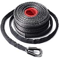 9,5 mm * 28 m Cuerda para cabrestante sintética Cable de cable 20500LBs Hook + Hawse Fairlead Para vehículo todoterreno deportivo utilitario deportivo