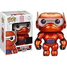 Funko - Figurine Disney - Big Hero 6 Baymax Armored Metalic Exclu Pop 15cm - 0849803069964