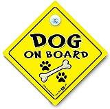 Dog on board Dog on board, Auto Schild, Aufschrift