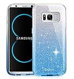 Samsung Galaxy S8 Plus Funda, ZUSLAB Elegante y Brillante Fina TPU Silicona Parachoques PC protección Cubrir Suave Flexible Carcasa para Apple Samsung Galaxy S8 Plus [Rosy][Gradual Azul]