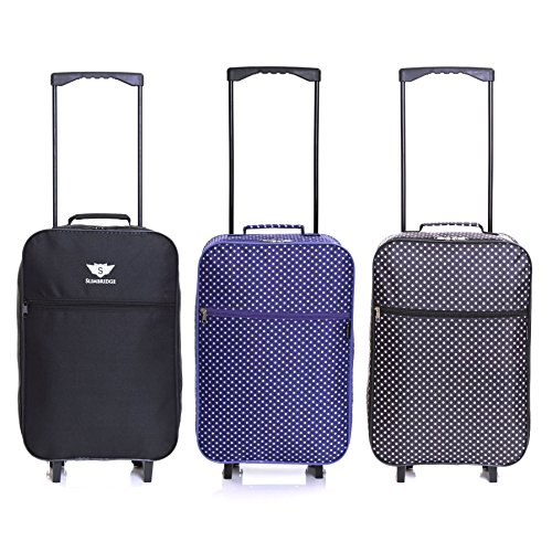 df62b82b2 Slimbridge Barcelona Ultra Light 0.95 kg Travel Carry On Cabin Hand Luggage  Suitcase with 2 Wheels, Approved for Ryanair, EasyJet, British Airways, ...