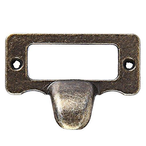 Awakingdemi Schublade Label Zieht, Kommode mit 6Schubladen Schrank Label Pull Cabinet Rahmen Griff Datei Name Card Halter (Label Zieht Für Schränke)