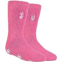 HEAT HOLDERS - Las mujer y niñas personajes de Disney térmica antideslizantes calcetines Calcetines tapón en
