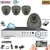 Die besten unbekannt Outdoor Security-Kameras - TMB 8CH 960H CCTV DVR 4x 1000TVL 24IR Bewertungen