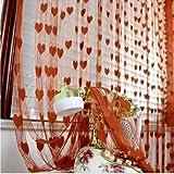 #9: Homefab India Brown Heart Shape String Door Curtain (1 pc) - 7 feet