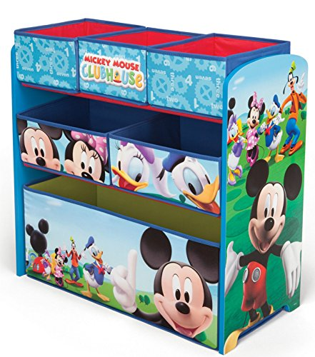 Mickey Mouse Regal Kindermöbel Spielzeugkiste Aufbewahrungskiste Disney 84847MM (Regal Maus)