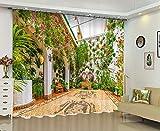 ETH Tende di Parete del Fiore Caldo Moderno di Stampa Digitale 3D / Una Tenda di Due Pannelli/Oscuramento/Sala da Pranzo della Stanza da Pranzo/Ufficio Dimensione Carnevale di Halloween