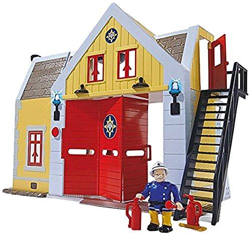 Giochi Preziosi Sam Le Pompier Jeu, caserne des Pompiers avec lumières et Sons