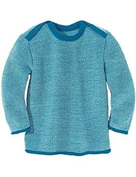Disana 31302XX - Melange-Pullover Wolle blau