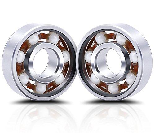 Lucklystar® Bearings 608 Hybrid Ceramic Mittellager Kugellager für Spielzeug, Skateboard, Roller, Inline Skates2PCS