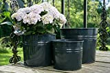 KUHEIGA Pflanztopf in versch. Ausführen, Verzinkt + Anthrazit Blumentopf aus Metall
