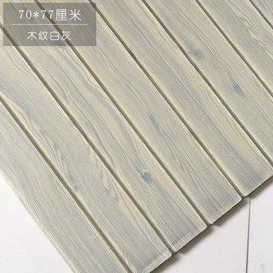KANG@ Tapete 3D Wallpaper Roll modernen minimalistischen Abstrakte Kurven Glitter Non-woven Beflockung gestreifte Tapeten für Schlafzimmer Wohnzimmer TV-Kulisse Selbstklebende wasserdichten Tv Wand Faux Brick Vollziegel Texturen, Wood-Grain Weiß Grau 77 *70, Groß -