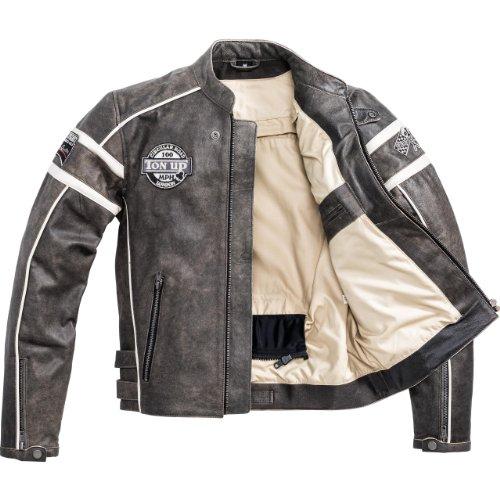 Motorradjacke Spirit Motors Retro-Style Lederjacke 1.0 schwarz/beige XXL - 5
