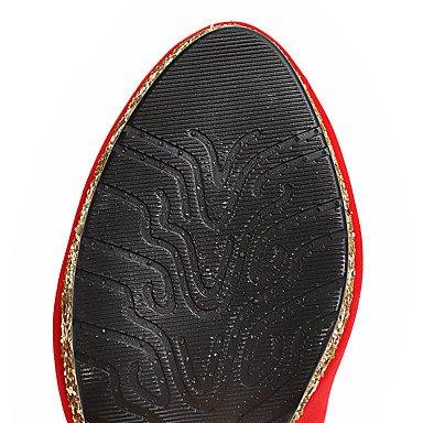 Talloni delle donne Primavera Estate Autunno Inverno Club Scarpe da sposa Fleece feste ed abito da sera tacco a spillo scintillante catena Glitter Nero Rosso Black