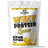 Whey Protein - 500g Beutel C.P. Sports, Eiweißpulver 16 geschmacksrichtungen (Banane)