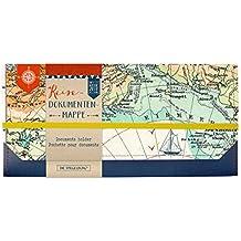 Portadocumentos Viaje. Diseño de mapa mundi. de reisezeit