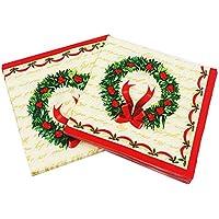 Gysad 5 paquetes (20 hojas/paquete) Servilleta navidad Naturales Servilletas papel Seguro y saludable Servilletas papel navidad Fiesta de navidad Servilletas size 33x33cm (#3)