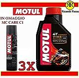 Motul 7100 10w30 olio motore moto 4 tempi litri 3 + OMAGGIO MC...