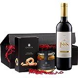 """Geschenkset Präsent """"Rioja und Mehr"""" Tempranillo Trocken (1 x 0.75 l, 1 x 200 g, 1 x 320 g)"""