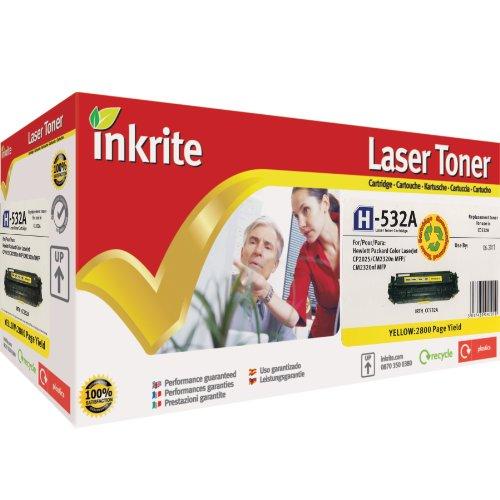 Inkrite Laser-Tonerkartusche kompatibel mit HP Colour LaserJet CP2025/CM2320 Gelb
