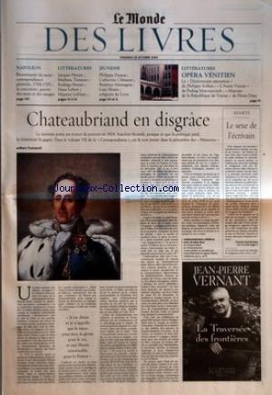 MONDE DES LIVRES (LE) du 29/10/2004 -