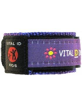Erkennungs-Armband für Kinder, Armband für Kontakt-, Krankheits- und Allergie-Informationen sowie Mobilfunknummer...