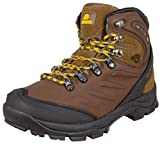 GUGGEN MOUNTAIN Herren Wanderschuhe Bergschuhe wasserdicht Outdoor-Schuhe Walkingschuhe M013, Farbe Braun, EU 42