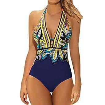 Damen Bikini  Bademode Push Up Gepolstert Zweiteiligen Badeanzug Schwimmanzug HJ