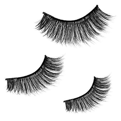 Vovotrade Naturels 3D Faux Cil Maquillage de faux cils naturels cheveux Longs faux cils faux naturels épais faux cils Noirs Extension soirée de bal Légers à la Recherche Couverture Pas de Colle