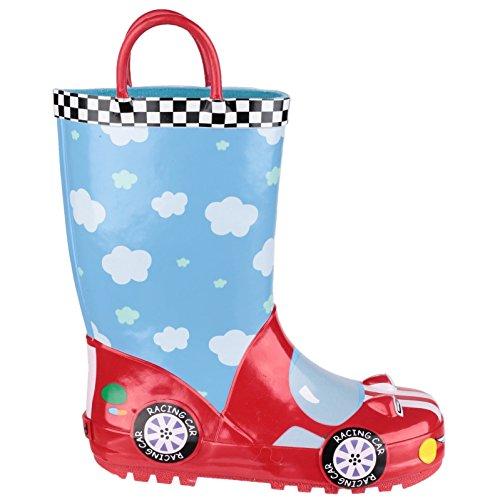 Cotswold garçons Puddle Bottes Wellington Bottes en caoutchouc à motif royal - RACER