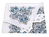 Alsino Bandana Zandana Kopftuch Halstuch verschiedene Muster 100% Baumwolle, wählen:weiß gemustert 182