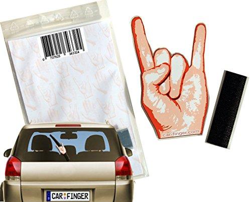 Car Finger Rock , witziges Auto - Zubehör für den Scheibenwischer - Das ideale Geschenk. Das outdoor Kfz tuning Zubehör in Form einer Hand oder eines Finger ist ein Muss für das Festival für Kinder, Damen und Herren