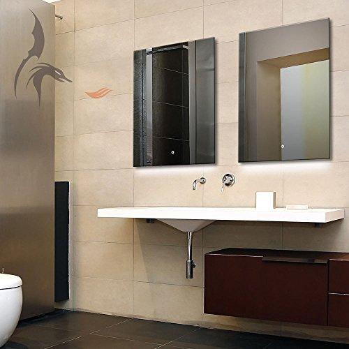 Badspiegel mit LED Beleuchtung, Karlsruhe 50x70cm, LED Bad Spiegel, Energieklasse A+