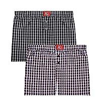 John Gladstone Men's Cotton Woven Boxer - Pack of 2 (XXL, Combo 5)