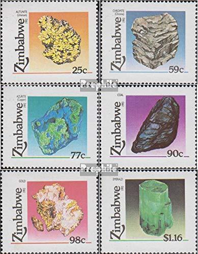 Prophila Collection Simbabwe 494-499 (kompl.Ausg.) 1993 Bodenschätze (Briefmarken für Sammler) Mineralien / Schmuck