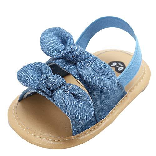 AIni Baby Schuhe,Beiläufiges Mode 2019 Neuer Baby Mädchen Jungen Blume Prinzessin Schuhe Mode Kleinkind Erste Wanderer Kind Schuhe Krabbelschuhe Lauflernschuhe Kleinkinder Schuhe (11,Himmelblau) (Kleid Jungen Die Kommunion Erste Für)