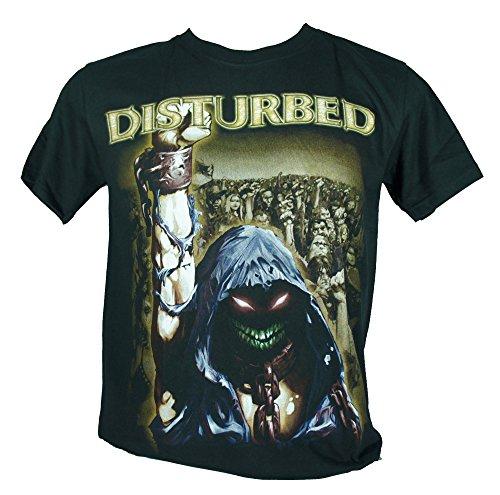 Disturbed-Maglietta da uomo nero Ten Thousand Fists Large Size L