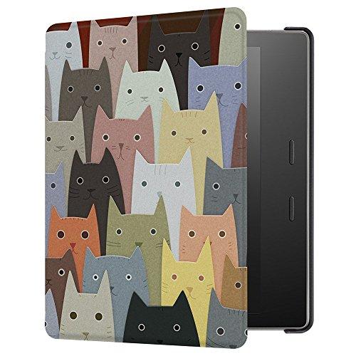 Huasiru Gemälde Hülle Schutzhülle für Alle Kindle Oasis 2017/2019 (9./10. Generation) 7 Zoll Case Cover, Katzen (Kindle 7inch Cover)