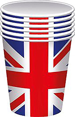 DIGITAL SPOT Großbritannien Union Jack Pappbecher 8 Stück British Royal Hochzeit Party Dekoration, Union Jack Paper Cup, One Size(Pack Of 8) (British Dekorationen Party)