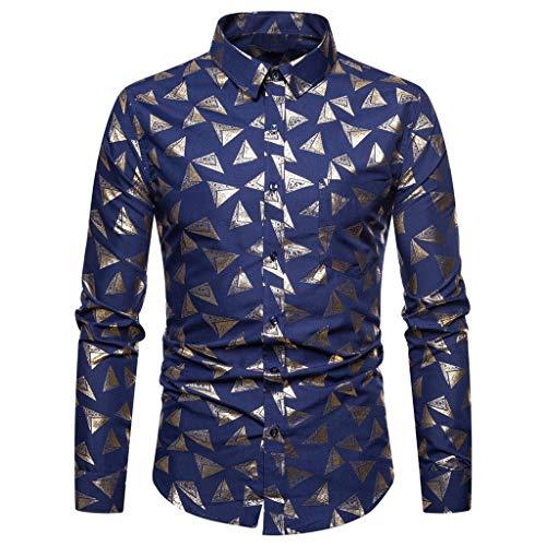 Camicetta stampata moda uomo camicetta casual primavera e autunno camicia uomo manica lunga classica,maglione uomo stampa a caldo camicia eleganti, t-shirt da uomo qinsling
