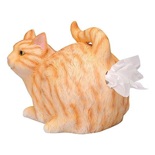 WHAT ON EARTH Funny Orange Tabby Cat Tissue Holder