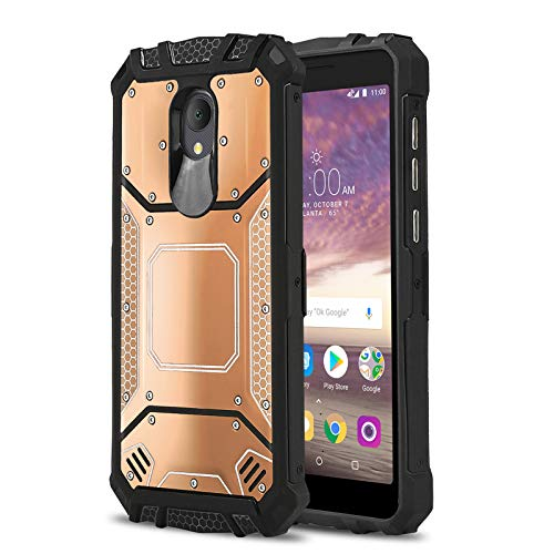 Phone Case for [ALCATEL TCL LX (A502DL)], [Alloy Series][Rose Gold]  Aluminium [Metal Plate] Military Grade Cover for Alcatel TCL LX (Tracfone,  Simple