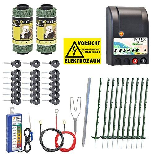 *Komplettset Hundezaun Katzenzaun 230V / grün / mit Netzgerät*