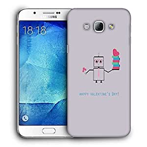 Snoogg Happy Valentine'S Day Printed Protective Phone Back Case Cover For Samsung Galaxy A8