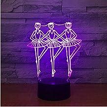 Vals Tango Slow Foxtrot Paso Rápido Rumba 7 Color 3D Luces de Noche para Niños Toque