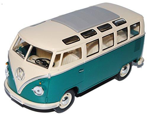VW Volkswagen T1 Grün Weiss Samba Bully Bus 1950-1967 1/24 Modellcarsonline Modell Auto