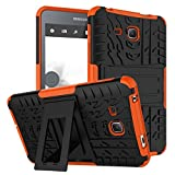 XITODA Galaxy Tab A6 7.0 Case,Hülle für Samsung Tab A 7 Hybrid Armor Cover Tough Tasche Tablet Case für Samsung Galaxy Tab A 7.0 Zoll 2016 (SM-T280/T285) Tablet Schutzhülle mit Kickstand - Orange